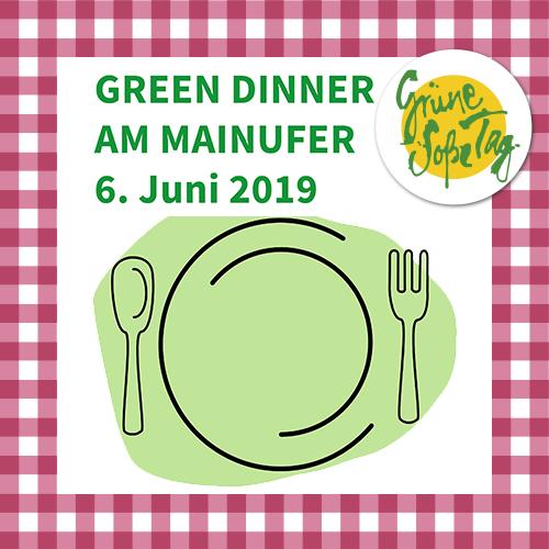Green Dinner am Mainufer